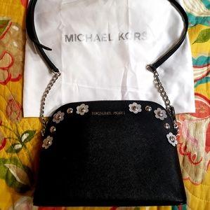MICHAEL KORS BLACK DRESSY CROSSBODY
